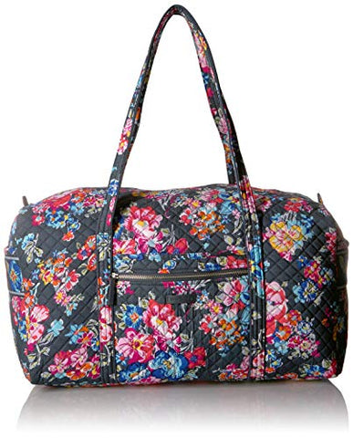 Vera Bradley Iconic Large Travel Duffel, Signature Cotton, Pretty Posies