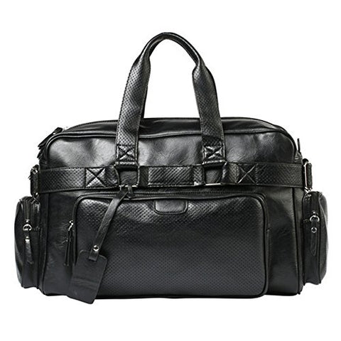 Berchirly Mens Messenger Laptop Bag Business Travel Duffel Weekender Bag Black