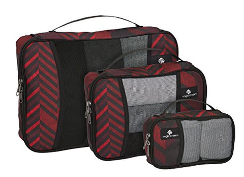 Eagle Creek Pack-it Original Cube Set-3pc St (XS, S, M), TRIBAL IRREGULARITY RED