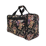 World Traveler Classic 4-Piece Rolling Expandable Spinner Luggage Set, Floral