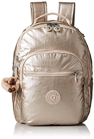 Kipling Women'S Seoul S Metallic Backpack, Sparkly Gold