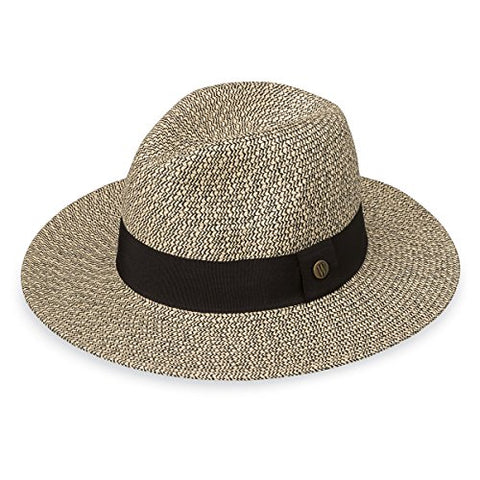 Wallaroo Womens Josie Sun Hat - Lightweight and Breathable Sun Hat - UPF 50+ (Mixed Black)