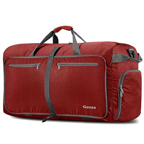 Gonex 100L Foldable Travel Duffel Bag for Luggage Gym Sports, Lightweight Travel Bag with Big