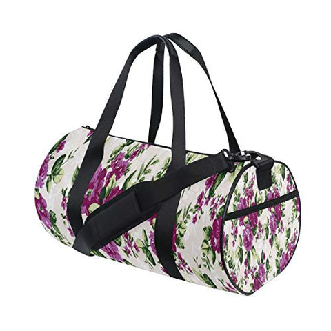Duffel Bag Floral Pattern New Women Garment Gym Tote Bag Best Sports Bag for Boys