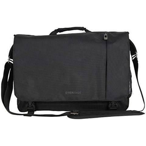 "Heritage Travelware Streeterville 1680d Polyester Dual Compartment 15.6"" Flapover Laptop"