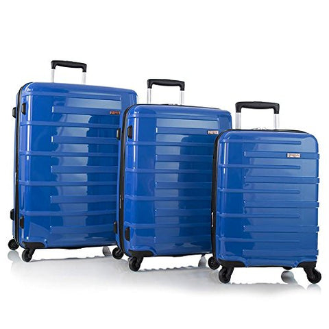 Heys America Helios 3-Piece Hardside Spinner Set Blue