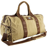 Canyon Outback Urban Edge Mason 21 Inch Canvas And Leather Duffel Bag, Tan, One Size