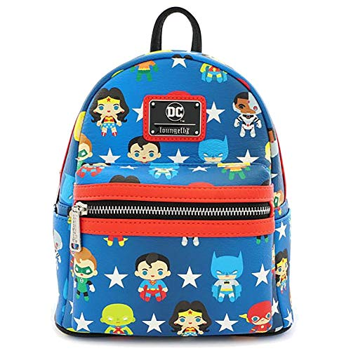 Loungefly DC Comics Chibi Characters Faux Mini Backpack - DCCBK0017