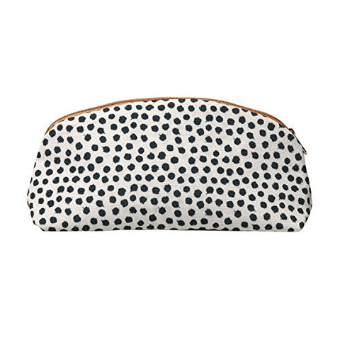 C.R. Gibson Zippered Canvas Purse Pouch, Dottie