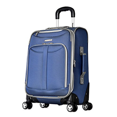 "Olympia Tuscany 21"" Expandable Carry-on Spinner, Blue"