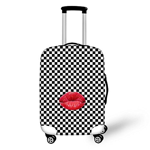 "Bigcardesigns Travel Luggage Protective Covers for 22""-25"" Suitcase Elastic"