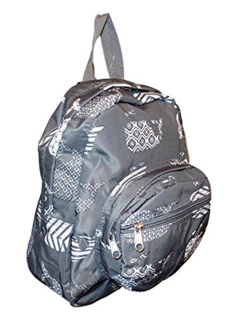 11-Inch Mini Backpack Purse, Zipper Front Pockets Teen Child (Gray Whale)