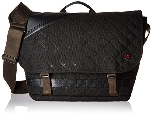 Token Bags Quilted Grand Army Messenger S, Black, One Size