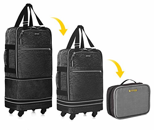 "Biaggi Luggage Zipsak Boost! Expandable Carry On - 22"" Expands To 28"", Black"