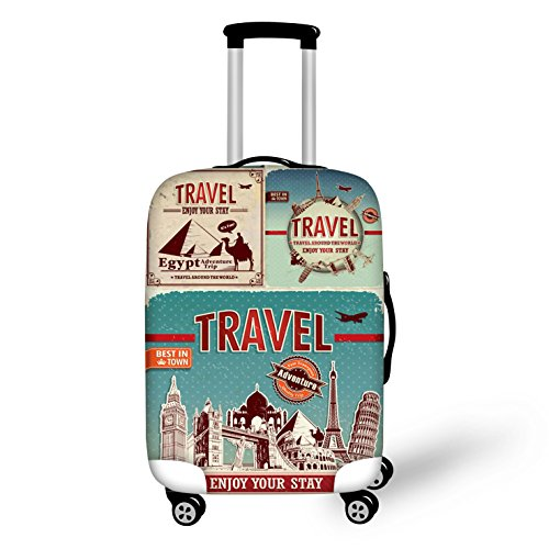 "Bigcardesigns Cool Travel Luggage Protective Covers for 22""-26"" Suitcase Elastic"
