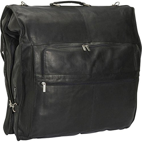 "David King Leather 52"" Deluxe Garment Bag In Black"