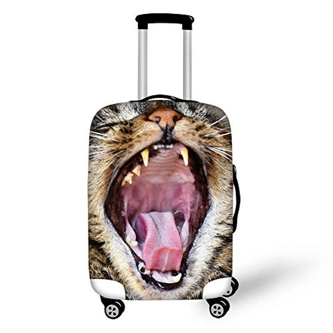 "Bigcardesigns Roaring Kitty Spandex 26""-30"" Luggage Protective Covers"