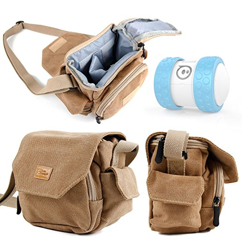 Light Brown Medium Sized Canvas Carry Bag for Sphero Ollie / Sphero Ball Robot - by DURAGADGET