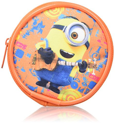 Minions Round Purse Coin Pouch, 8 Cm, Orange