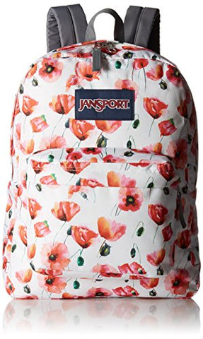 JanSport Womens Superbreak Multi Cali Poppy Backpack