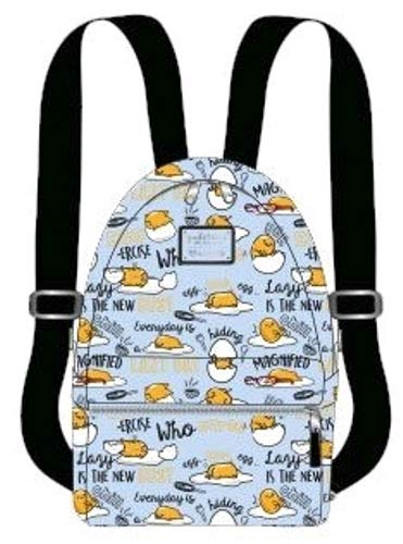Loungefly x Gudetama Editorial Lazy Egg Allover-Print Mini Backpack (One Size, Multicolored)
