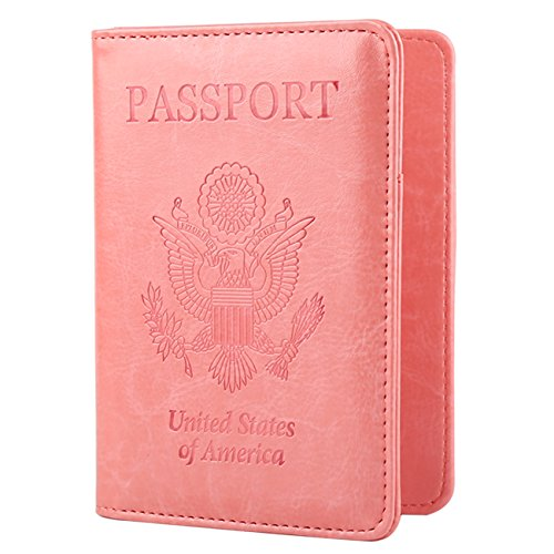 Gdtk Leather Passport Holder Cover Rfid Blocking Travel Wallet (Pink)