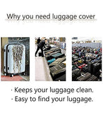 "Bigcardesigns Travel Luggage Protective Covers for 18""-21"" Suitcase Elastic"