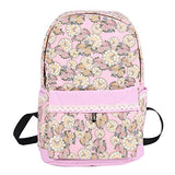 Damara Womens Floral Print Lace Spliced School Bacapack,Pink