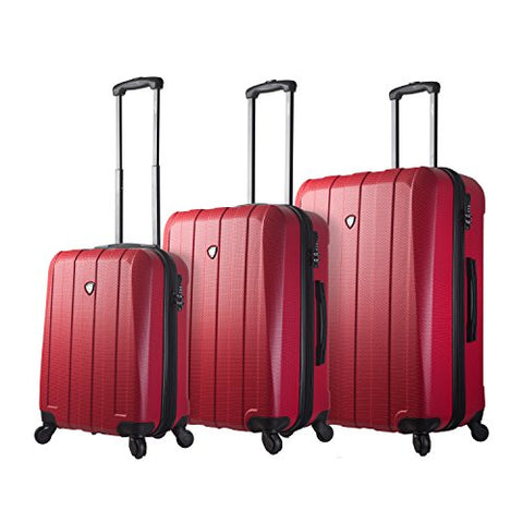 Mia Toro Italy Tosetti Hardside Spinner Luggage 3pc Set,red