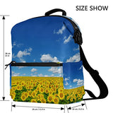 ColourLife Sunflower in the Field Stylish Casual Shoulder Backpacks Laptop School Bags Travel Multipurpose Daypack for Women Girls Kids