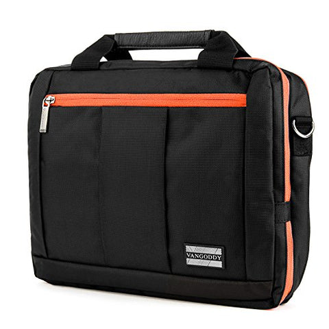 Orange Messenger Bag W/ Heavy Duty Protective Stitching For Dell Gaming Laptop Inspiron 15 7004