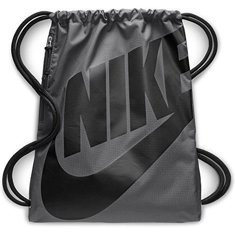 Nike Heritage Gym Sack, Dark Grey/Black/Black, One Size