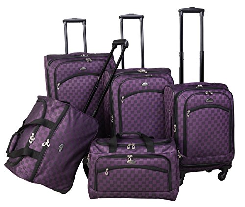 American Flyer Madrid 5-Piece Spinner Luggage Set Blue