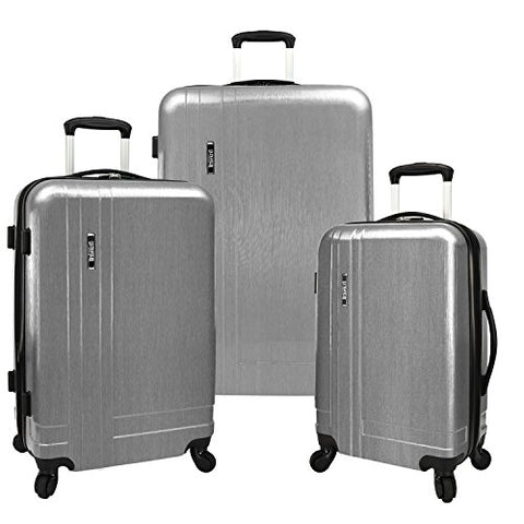 U.S. Traveler Silver 3-Piece Lightweight Expandable Spinner Set