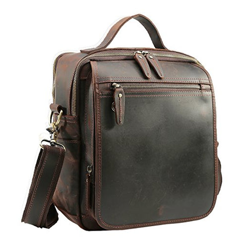Polare Men'S Full Grain Leather Shoulder Bag Messenger Bag Travel Bag Business Bag Working Bag