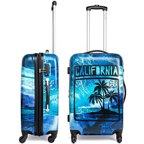 "Maui and Sons California Expandable Hardside Spinner Luggage with TSA Lock (24"")"