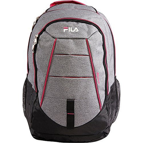 Fila Windstorm Laptop and Tablet Backpack, HEATHER/FUCHSIA One Size