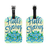 Luggage Tags Hello Spring Flower Hope Travel ID Identifier for People
