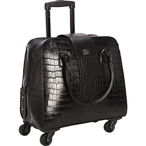 Hang Accessories Crocodile Rolling Carry On Trolley Bag - Wheeled Travel, Work, And Weekend Tote.