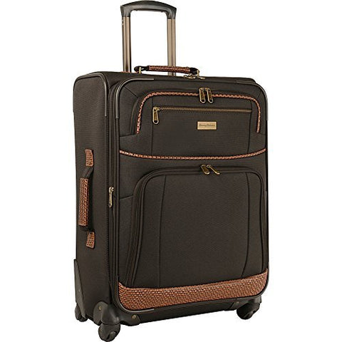 Tommy Bahama Mojito 24-Inch Expandable Spinner Suitcase, Dark Brown
