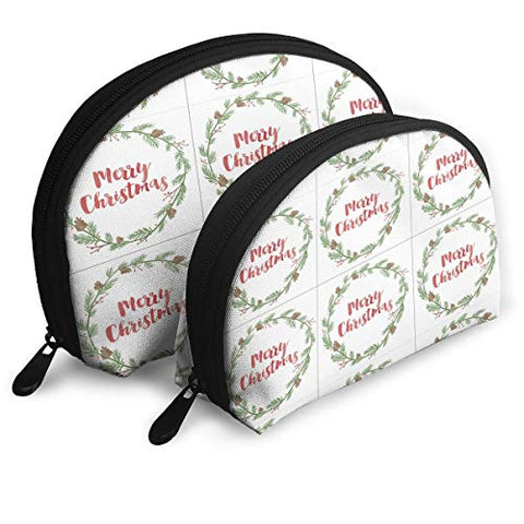 Pingshoes Makeup Bag Sweet Simple Living Handy Half Moon Toiletry Bags Organizer Women