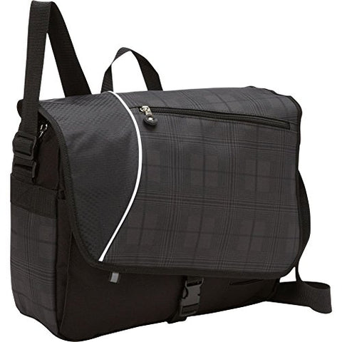 Bellino P4635 Matrix Plaid Laptop Messenger