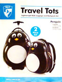 HEYS Kids 2Pc. Travel Tots (Penguin) Lightweight Luggage & Backpack Set
