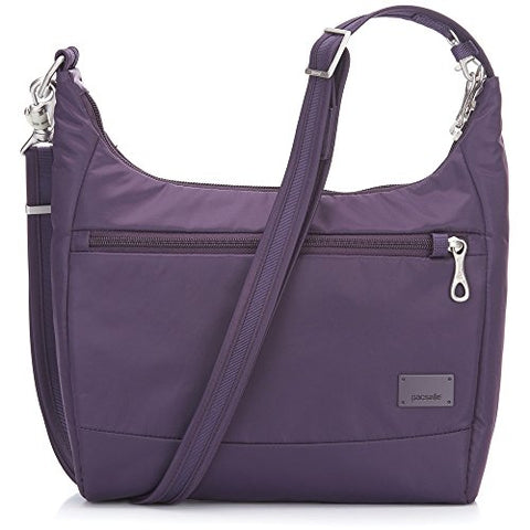 Pacsafe Women'S Citysafe Cs100 Anti-Theft Travel Handbag - Mulberry Cross-Body Bag, One Size