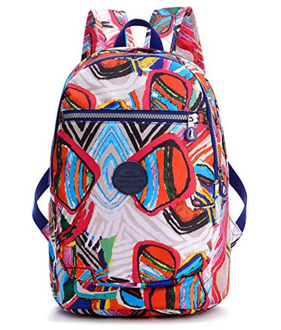 Girls Lightweight Floral Backpack Purse Water-resistant Nylon Travel Hiking Daypack for Women
