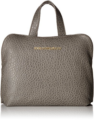 BUFFALO DAVID BITTON Men's Pebble Grain Carry-All Weekender with Pull-Out Double Zip Clear Pouch, Grey