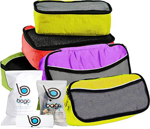 Bago Packing Cubes For Travel Bags - Luggage Organizer 5pc Set with 6 organizers