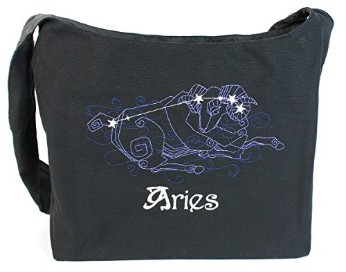 Dancing Participle Aries Embroidered Sling Bag