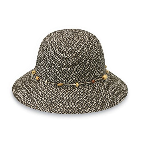 Wallaroo Women'S Naomi Sun Hat - Natural Woven Fibers - Upf50+ (Charcoal)