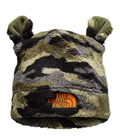 The North Face Kids Unisex Bear Beanie (Infant) New Taupe Green Camo/Persian Orange XXS